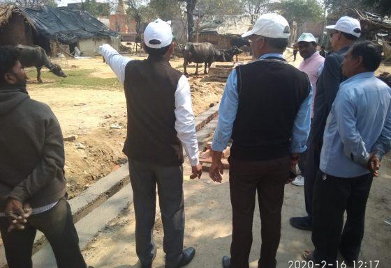 वलीपुर में ग्राम भ्रमण
